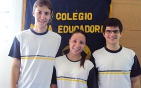 Parabéns Marcelo, Gabriela e Matheus